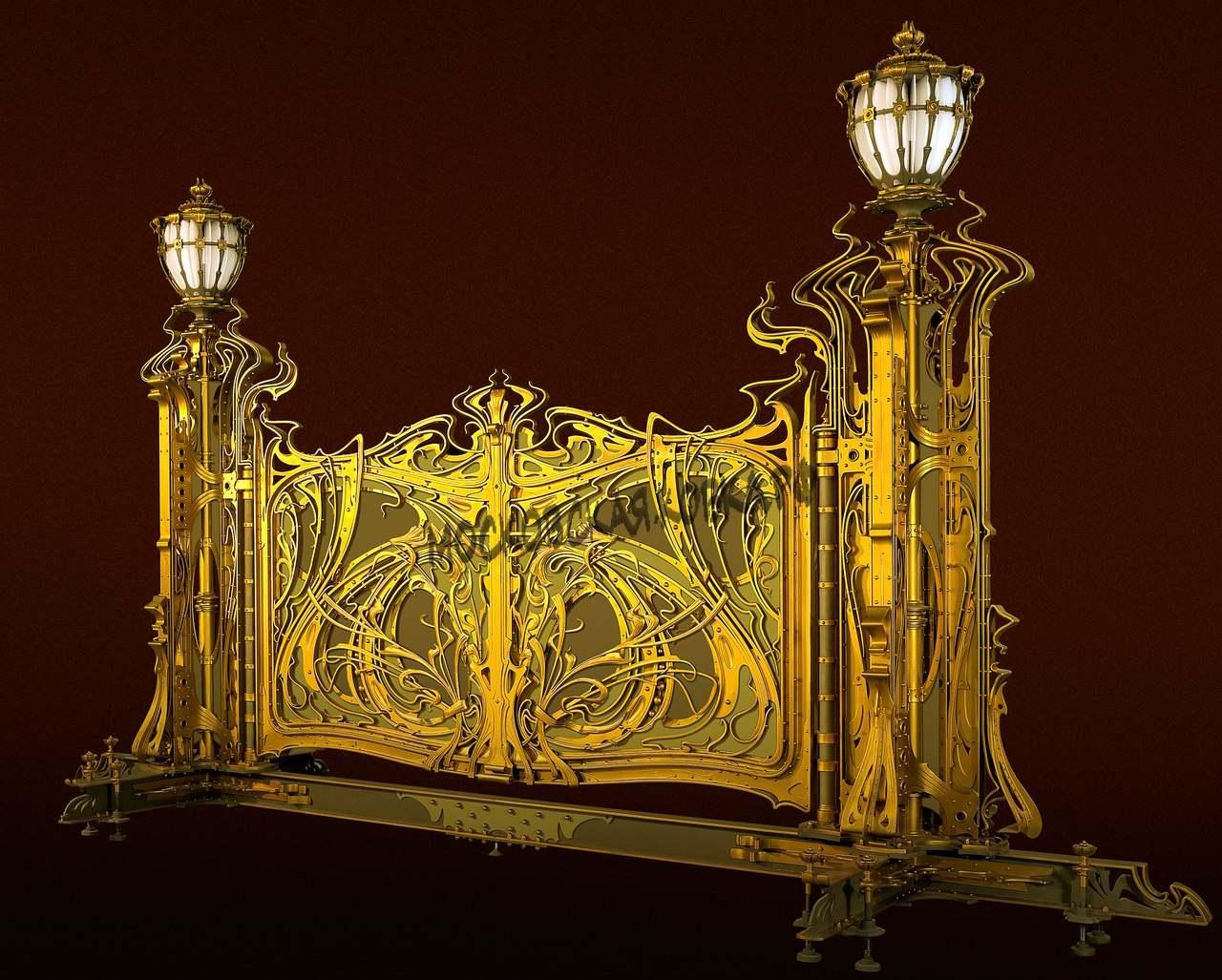 Дизайн проект кованых ворот со столбами Артикул КВ-063