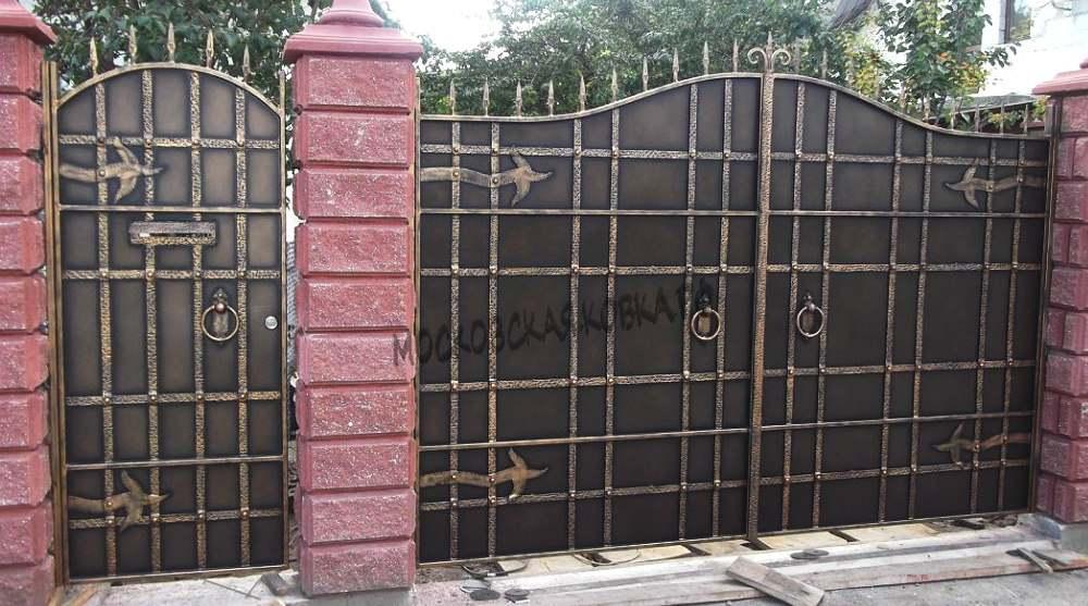 Кованые ворота с петлями Артикул КВ-041