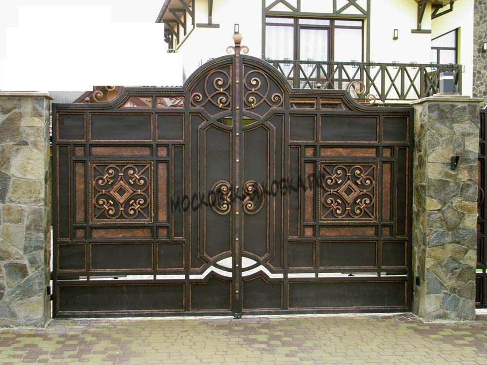 Кованые уличные ворота Артикул КВ-031