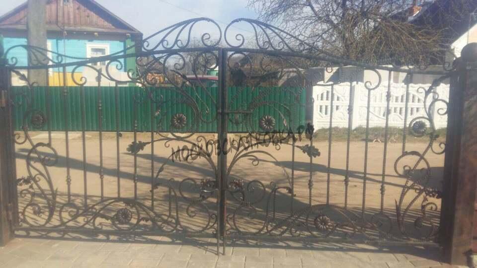 Легкие кованые ворота для дачи Артикул КВ-042