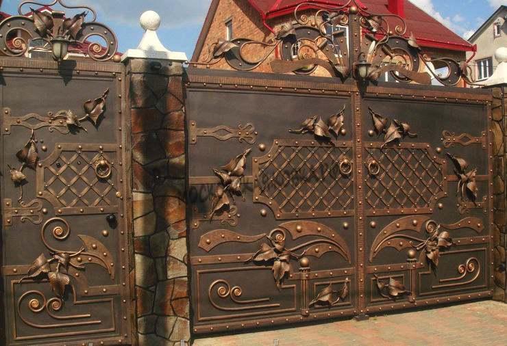Эксклюзивные кованые ворота ручной работы Артикул КВ-045
