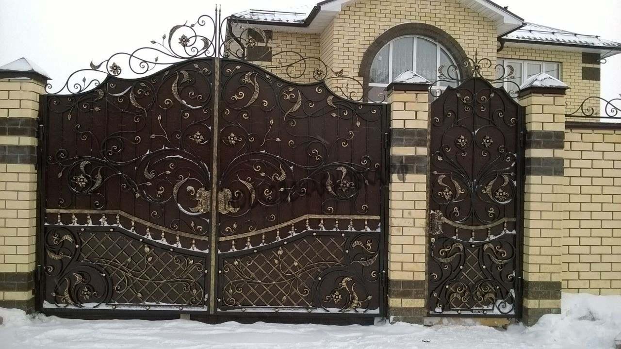Глухие ворота с ковкой Артикул КВ-047