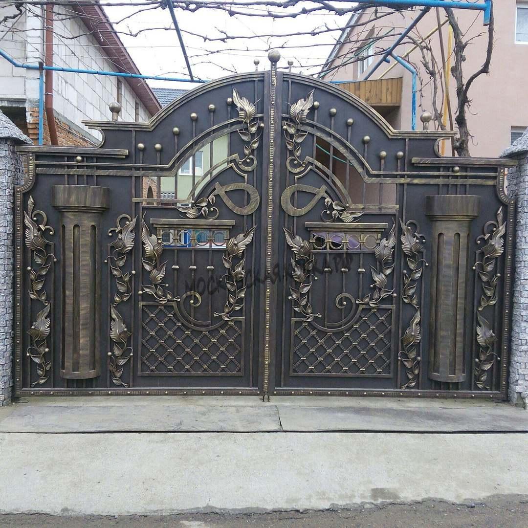 Кованые ворота закрытого типа Артикул КВ-050