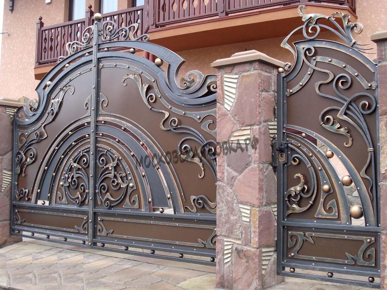 Авторские кованые ворота Артикул КВ-055