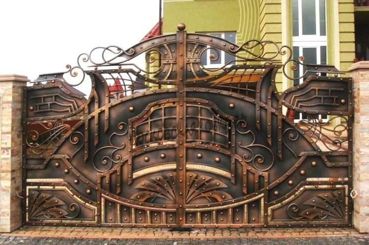 Оригинальные кованые ворота Артикул КВ-056