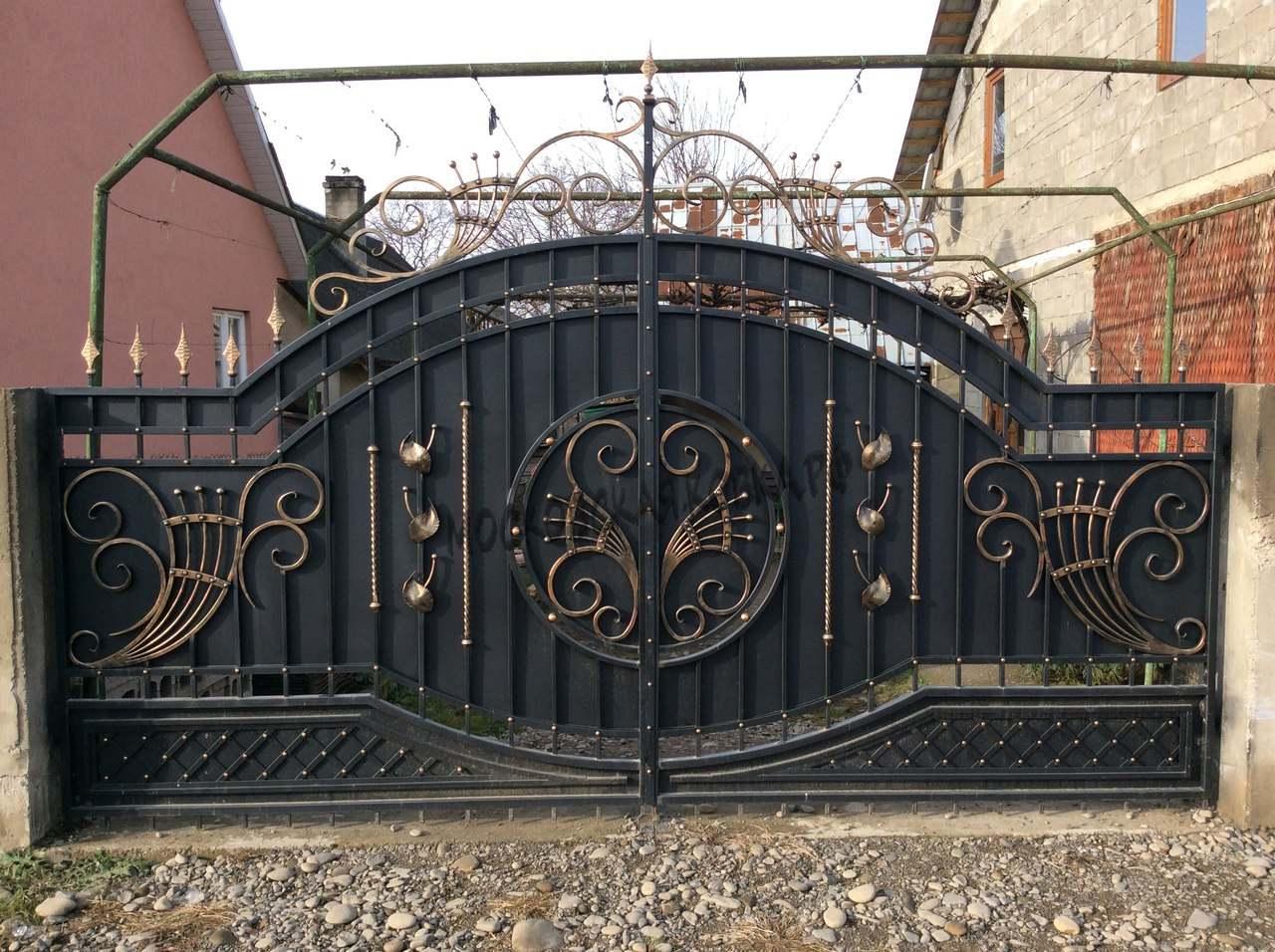 Кованые ворота по собственному эскизу Артикул КВ-052