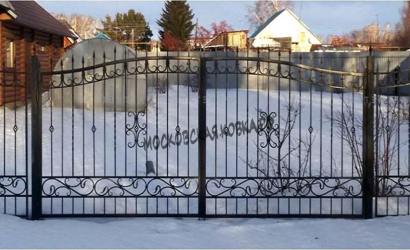 Недорогие сварные ворота для СНТ Артикул КВ-064