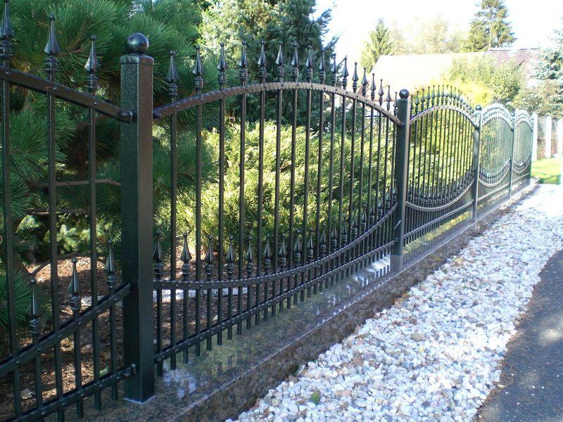 Кованый забор с пиками Артикул № КЗ-007