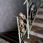 Кованые перила с цветами