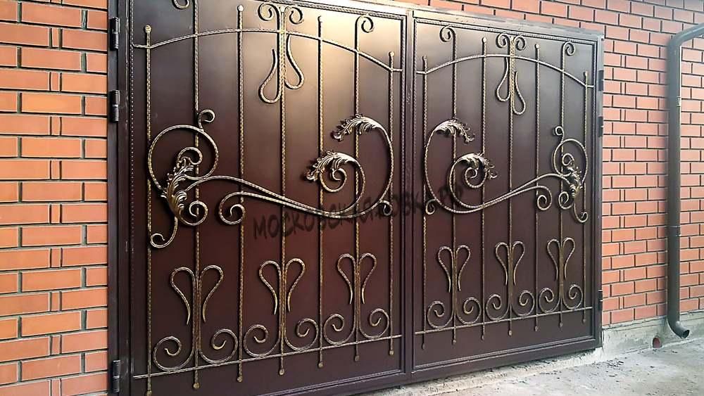 Гаражные кованые ворота Артикул КВ- 005