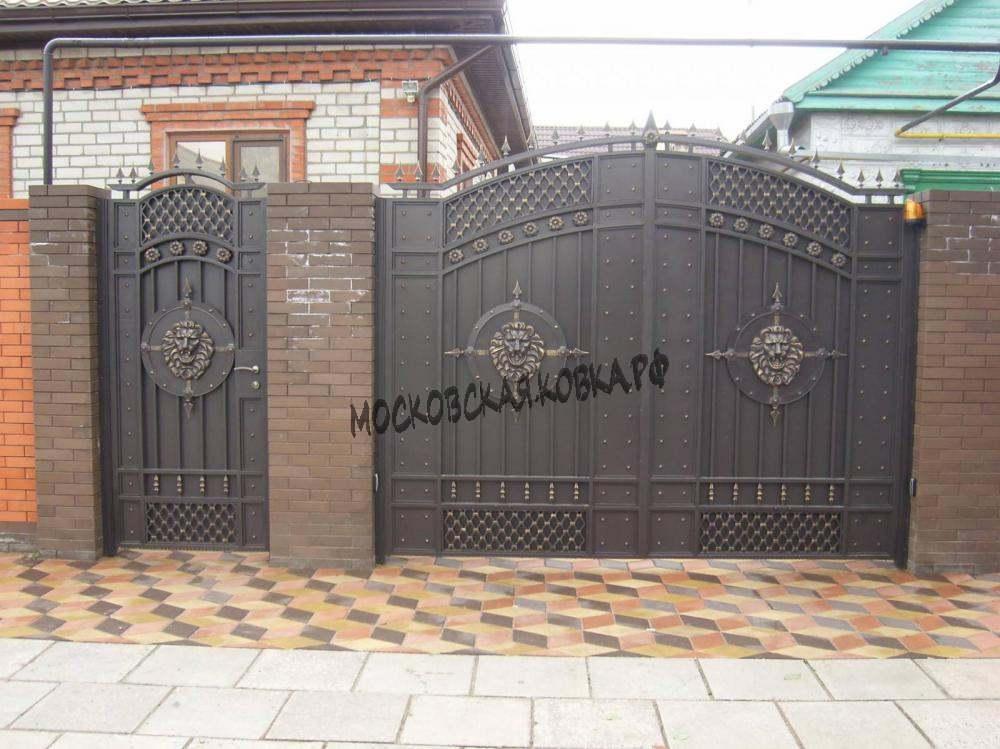 Непрозрачные кованые ворота Артикул КВ-018