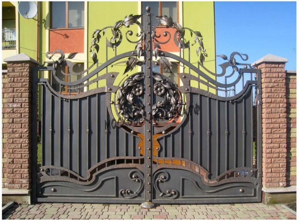 Кованые ворота для загородного дома Артикул КВ-014