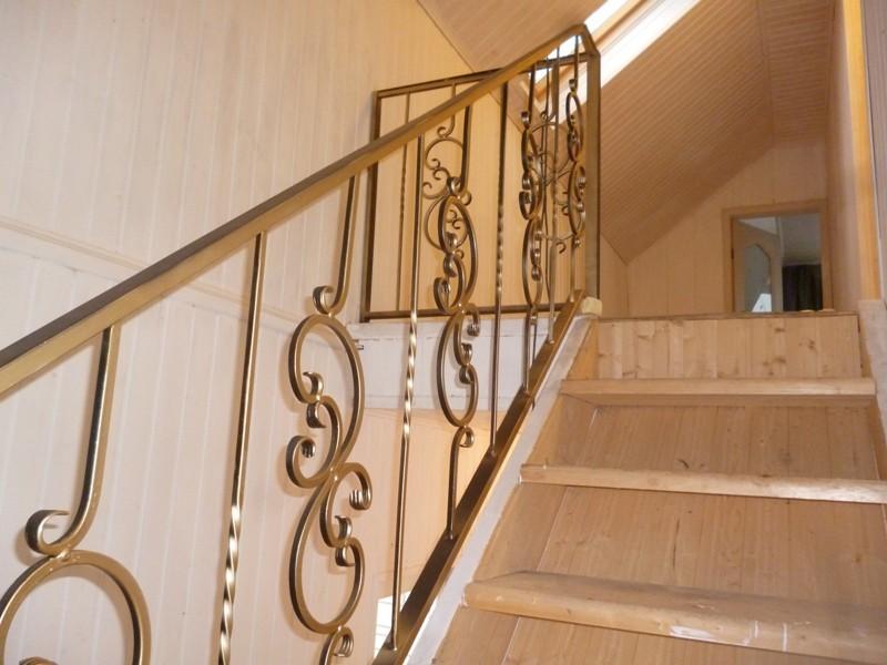 Бюджетные перила для лестницы холодной ковки АРТИКУЛ КП 036