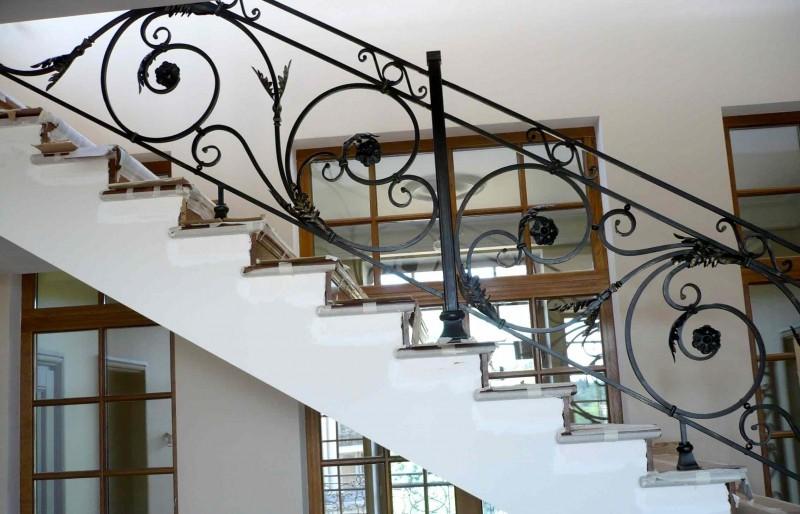 Кованые перила для лестницы АРТИКУЛ КП 021