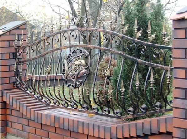 Выпуклый кованый забор Артикул № КЗ-015