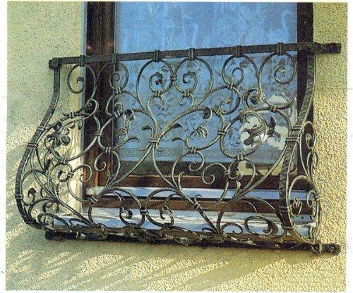 Кованый французский балкончик АРТИКУЛ КБ 002