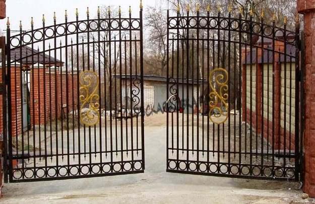 Распашные сварные ворота Артикул КВ- 004