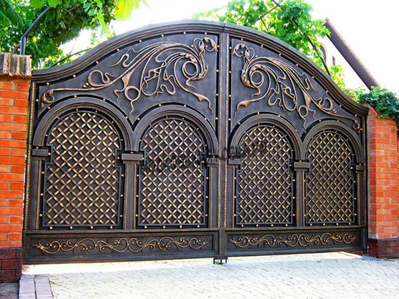 Сложные кованые ворота Артикул КВ-011
