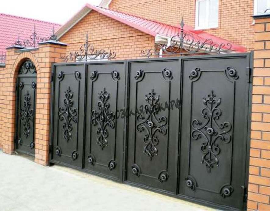 Глухие кованые ворота Артикул КВ-016