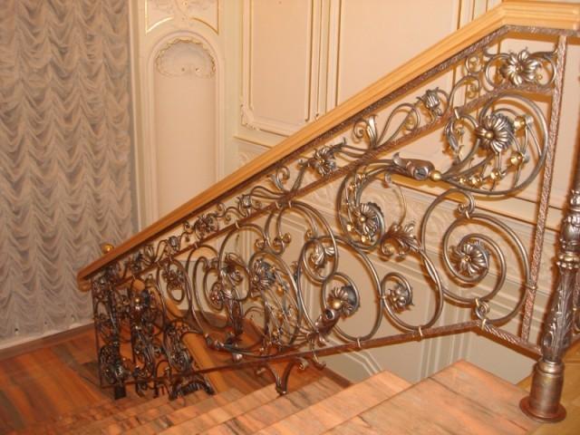 Кованые перила для лестницы АРТИКУЛ КП 048