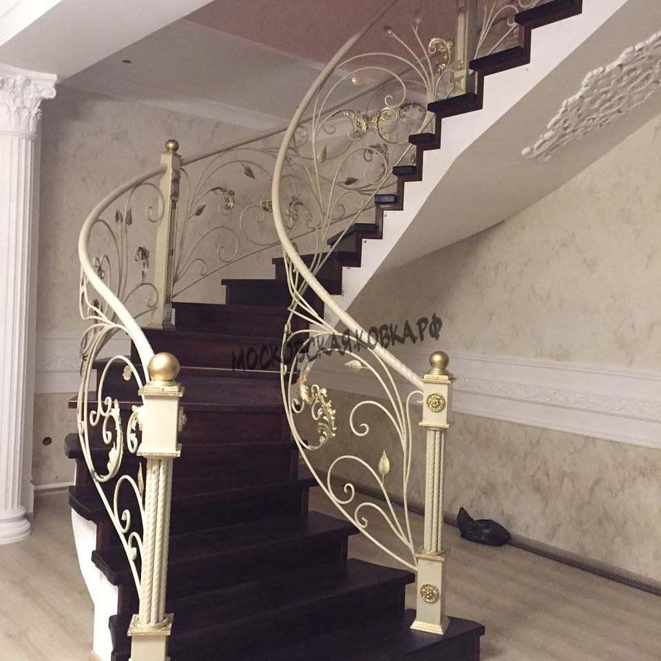 Кованые перила для лестницы АРТИКУЛ КП 062