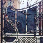 Створка кованых комбинированных ворот