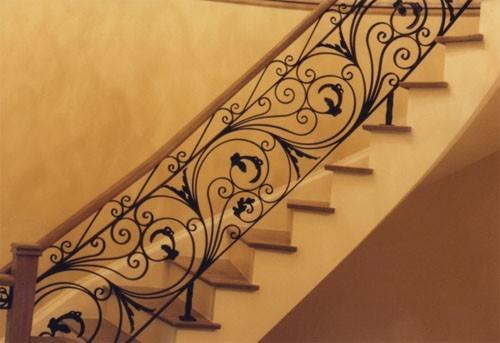 Кованые перила для лестницы АРТИКУЛ КП 046