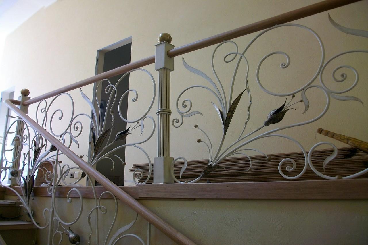 Кованые перила для лестницы АРТИКУЛ КП 041