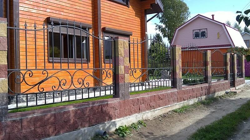 Сварной забор с элементами ковки Артикул № КЗ-023