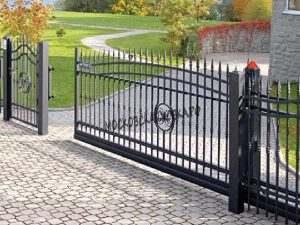 кованые откатные ворота под ключ цена