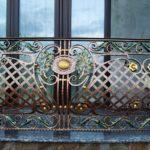 Кованые выпуклые ограждения балконов (1)