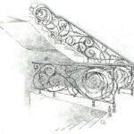 Эскиз кованых перил