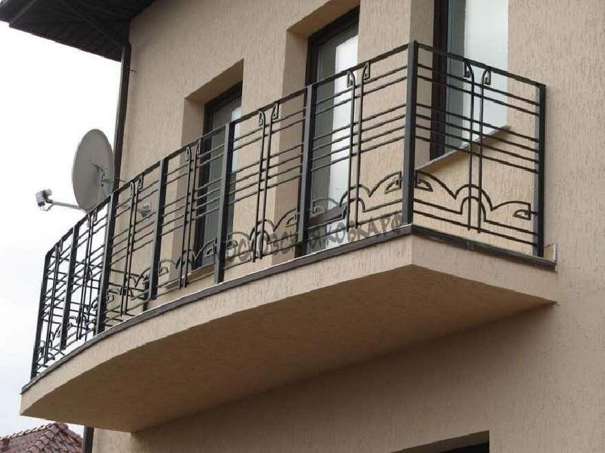Балконные кованые перила АРТИКУЛ КП 107
