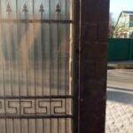 Ответная часть с ловушкой для откатных ворот
