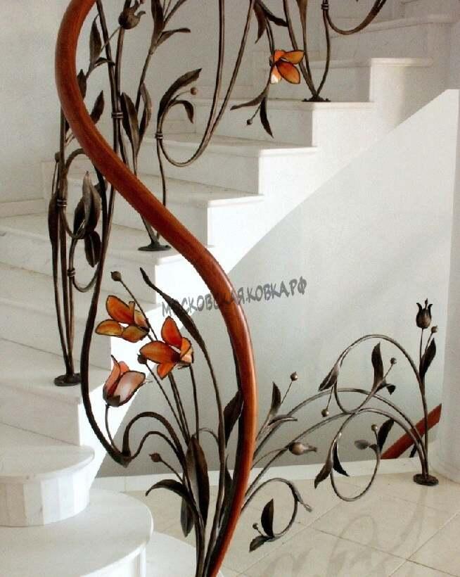 Кованые перила для лестницы АРТИКУЛ КП 076
