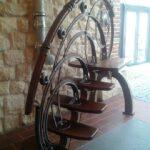 Оригинальная задумка для кованой лестницы Артикул для заказа 102