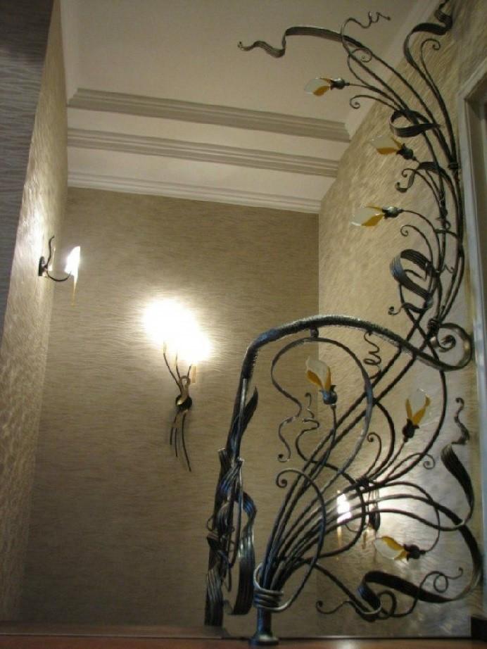 Кованые перила для лестницы АРТИКУЛ КП 137