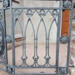 Строгие кованые перила в готическом стиле Артикул для заказа 097 Цена 15 000 рублей