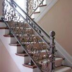 Кованые перила с медной патиной на лестнице Артикул для заказа 098