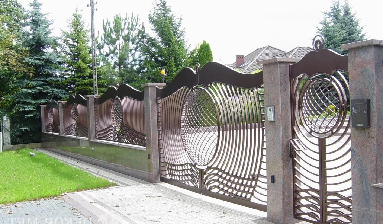 Оригинальные забор и ворота из металла Артикул № КЗ-075