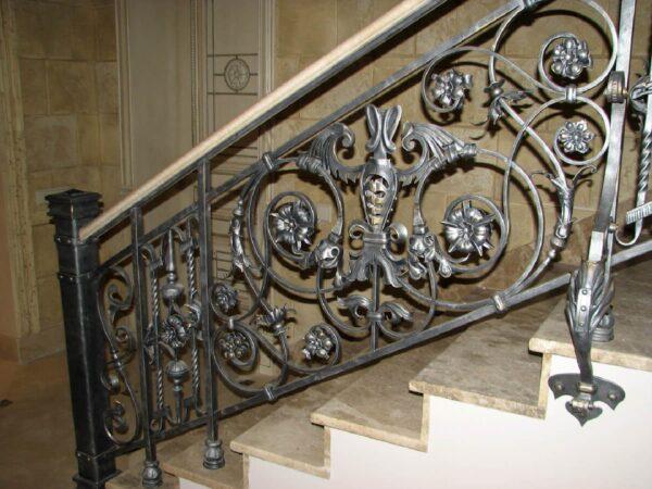Кованые перила для лестницы АРТИКУЛ КП 166