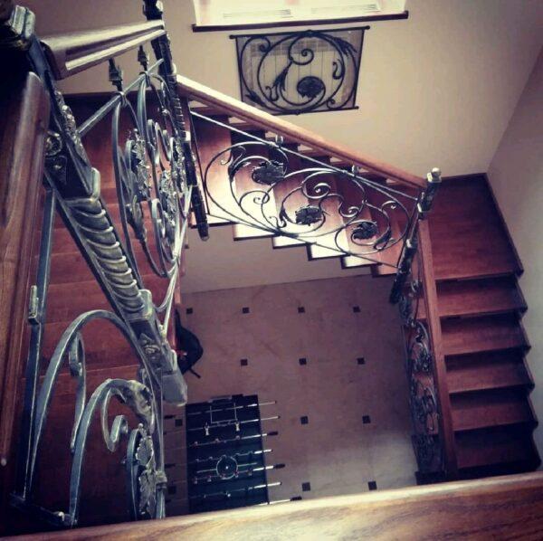 Кованые перила для лестниц АРТИКУЛ КП 185