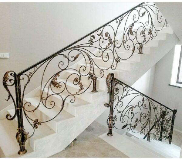 Перила кованые на лестницу АРТИКУЛ КП 201