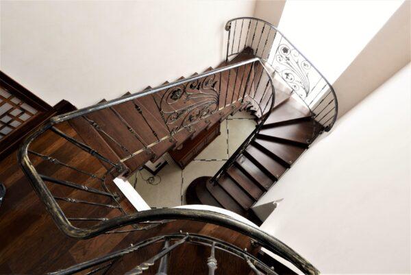 Кованые перила на лестницу АРТИКУЛ КП 208