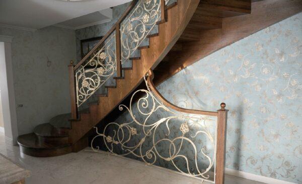 Кованые перила на лестницу АРТИКУЛ КП 209