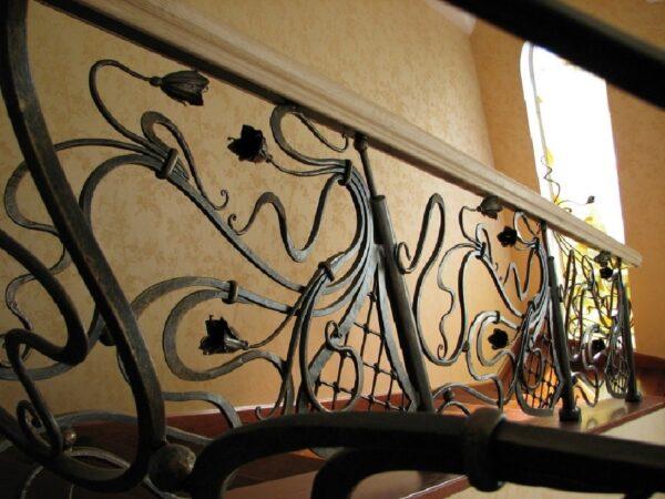 Кованые перила для лестницы АРТИКУЛ КП 245