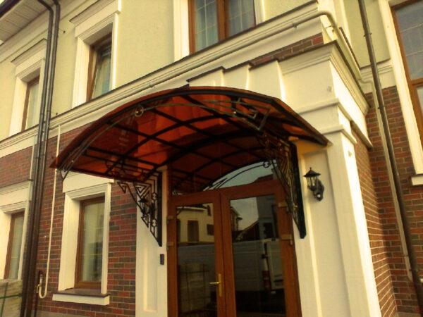 Кованый арочный козырек над дверью Артикул № 032