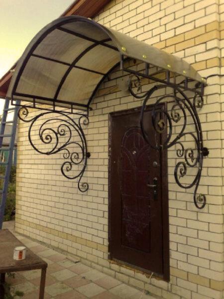 Кованые козырьки над дверью Артикул № 053