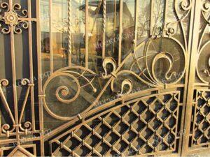 Кованые художественные ворота (3)