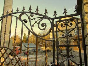 Кованые художественные ворота (6)
